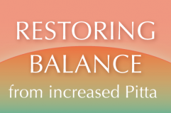 Balance when Pitta is increased