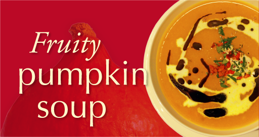 Fruity pumpkin soup